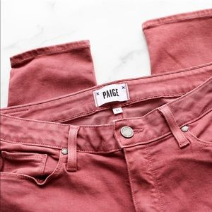PAIGE Jeans - PAIGE Jeans dark rose Verdugo Ankle skinny NWOT 11